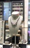 Esposizione della gioielleria Fotografie Stock