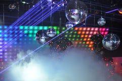 Esposizione della luce laser del locale notturno Immagine Stock