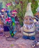 Esposizione della scultura del giardino in Nevada Cactus Nursery immagine stock libera da diritti