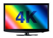 esposizione della televisione 4K Immagini Stock