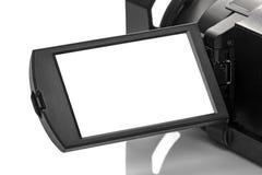 Esposizione della video videocamera portatile di Digital Handycam come spazio Fotografia Stock Libera da Diritti