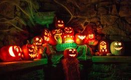 Esposizione della zucca di Halloween immagini stock