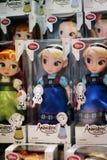 Esposizione delle bambole congelata Disney Fotografia Stock
