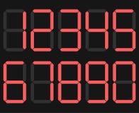 Esposizione delle cifre Figure elettroniche I numeri del calcolatore del quadrante Vettore illustrazione vettoriale