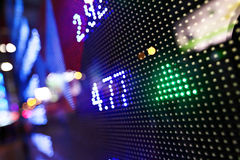 Esposizione delle citazioni del mercato azionario Fotografia Stock