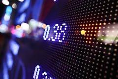 Esposizione delle citazioni del mercato azionario Fotografie Stock