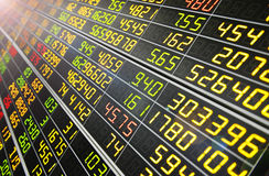 Esposizione delle citazioni del mercato azionario Immagini Stock