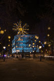 Esposizione delle luci di Natale su duca di York, Londra Regno Unito Fotografia Stock