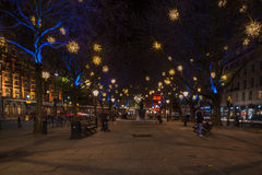 Esposizione delle luci di Natale su duca di York, Londra Regno Unito Immagine Stock