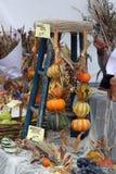 Esposizione delle merci del mercato degli agricoltori Fotografia Stock Libera da Diritti