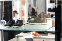 Esposizione delle scarpe del ` s degli uomini Immagine Stock Libera da Diritti