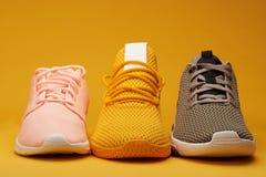 Esposizione delle scarpe di addestramento Immagine Stock Libera da Diritti