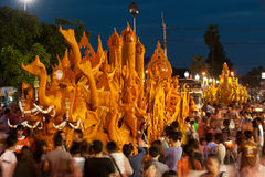 Esposizione di festival di parata della candela. Fotografie Stock