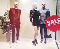 Esposizione di lusso ed alla moda della finestra di marca Immagini Stock Libere da Diritti