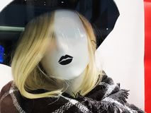 Esposizione di lusso ed alla moda della finestra di marca Fotografia Stock