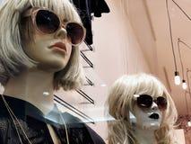Esposizione di lusso ed alla moda della finestra di marca Immagini Stock