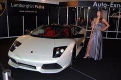 Esposizione di murciélago di Lamborghini Immagine Stock