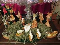 Esposizione di natività di Natale di festa immagine stock