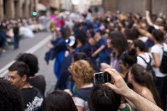 Esposizione di parata in via Fotografia Stock