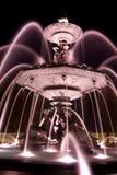 Esposizione di tempo della fontana Fotografie Stock