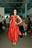 Esposizione di Vivienne Westwood Schang-Hai backstage Immagini Stock