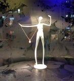 Esposizione elegante della collana, grande magazzino di Manhattan, New York, NY, U.S.A. Immagine Stock