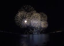 Esposizione fantastica dei fuochi d'artificio Immagine Stock Libera da Diritti