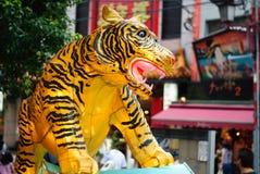 Esposizione gialla della lanterna della tigre Immagine Stock