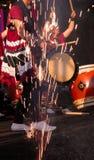 Esposizione giapponese dei tamburi Fotografia Stock Libera da Diritti