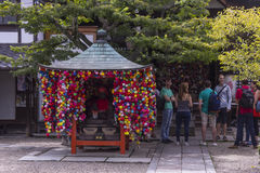Esposizione giapponese variopinta del tempio Fotografie Stock Libere da Diritti