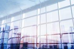 Esposizione interna di affari doppia alta tecnologia Fotografie Stock Libere da Diritti