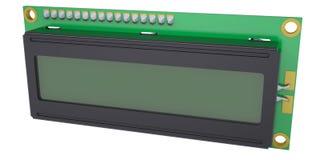 Esposizione LCD del modulo del carattere Fotografia Stock