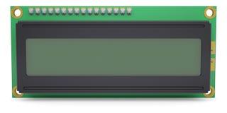 Esposizione LCD del modulo del carattere Immagine Stock