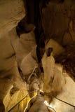 Esposizione lunga in caverna fotografie stock