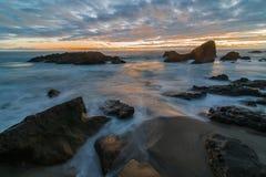 Esposizione lunga del Laguna Beach Fotografia Stock Libera da Diritti