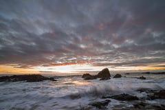 Esposizione lunga del Laguna Beach Fotografia Stock