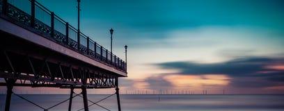 Esposizione lunga del Mare del Nord Fotografia Stock