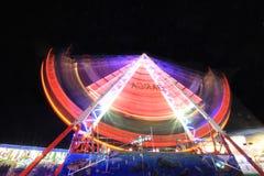 Esposizione lunga del parco di divertimenti Fotografia Stock Libera da Diritti