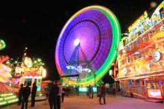 Esposizione lunga del parco di divertimenti Immagini Stock