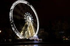 Esposizione lunga dell'occhio di Budapest Immagini Stock Libere da Diritti