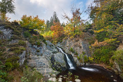 Esposizione lunga della cascata di Bayehon, Belgio Fotografie Stock Libere da Diritti