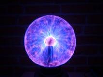 Esposizione lunga della palla del plasma Fotografia Stock Libera da Diritti