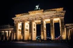 Esposizione lunga della porta di Brandeburgo immagine stock