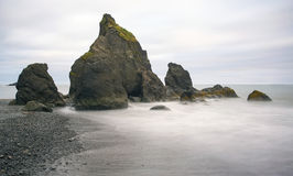 Esposizione lunga della spiaggia vermiglia Immagini Stock Libere da Diritti