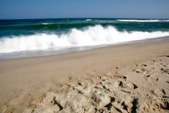 Esposizione lunga di Sandy Hook Beach New Jersey Immagini Stock Libere da Diritti