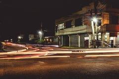 Esposizione lunga di traffico in Solano, Filippine immagine stock libera da diritti