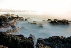 Esposizione lunga in Hawai Fotografie Stock