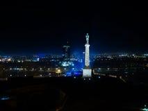 Esposizione lunga nella città di Belgrado fotografia stock libera da diritti