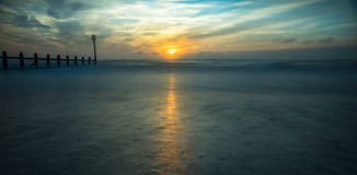 Esposizione o vista sul mare lunga fotografia stock