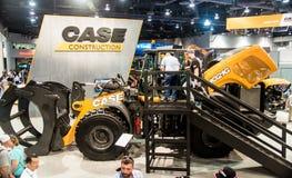 Esposizione pesante dell'attrezzatura per l'edilizia all'Expo di raggiro Fotografie Stock Libere da Diritti